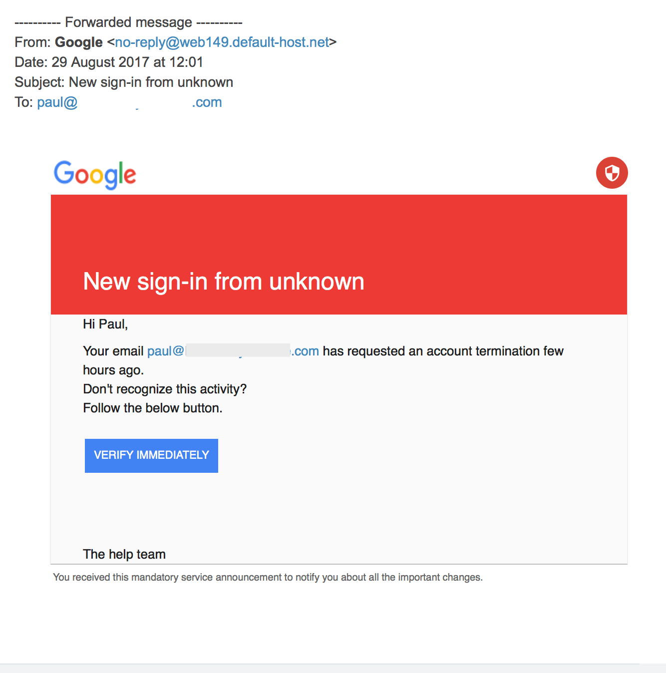 Spotting fake Phishing emails - PBS Creative
